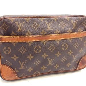 Auth Louis Vuitton Compiegne 28 Clutch 220LCW70